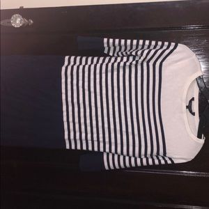 Navy stripe sweater dress, BCBG, size XS, new